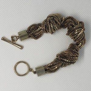 Jewelry - Gold tone knot chain bracelet